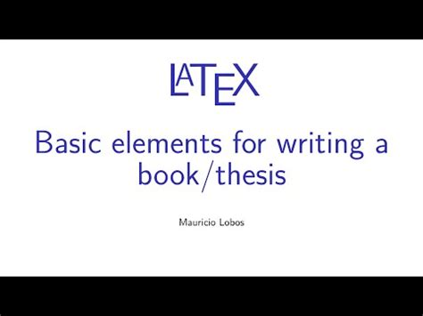 How to Format a Thesis Synonym